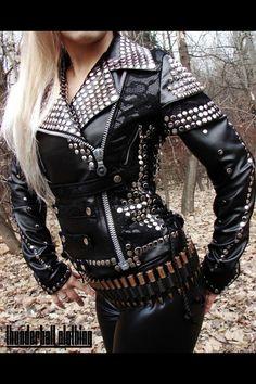 Studded leather jacket ❤
