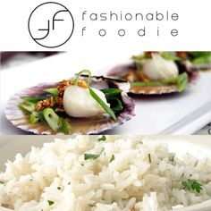 The Perfect date night recipe Steamed Scallops with Soy Sauce and Garlic Oil served with a side of Coconut Jasmine Rice!  Get the recipe and many more on www.facebook.com/vincenteart.