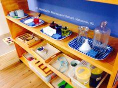 Montessori Practical Life shelf ... @wmswms (Westside Montessori School, Vancouver, BC)