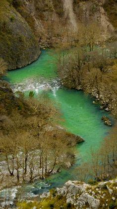 Winter - Voidomatis River, Greece (by Savvas Savvaidis on 500px)