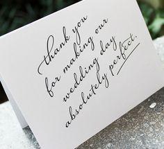 Thank you, wedding vendors!