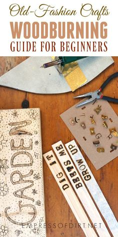Woodburning art has been around for years and seems to get a fresh touch with each new generation of crafters. Come see what's involved and the supplies you need to get started. It's an easy, relaxing craft you can learn in minutes. #crafts #woodburning #diy #signmaking #empressofdirt
