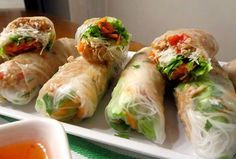 THAI CHICKEN RICE PAPER ROLLS These rice paper rolls are really healthy and make a lovely change now the warmer weather has arrived. Well worth the effort -... these are fantastic. INGREDIENTS...