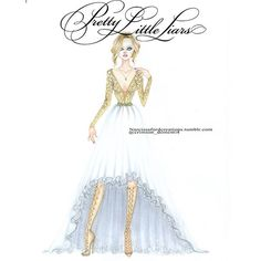 """Pretty Little Liars 6x9 The Last Dance - Hanna Marin Prom Dress. Designed by…"