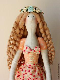 Куклы Тильды ручной работы. Ярмарка Мастеров - ручная работа Тильда Моника с цыплятими. Handmade.