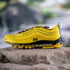 "Grab the Nike Air Max 97 ""Bright Citron"" on sale for only $103.99 (Retail $170) via Foot Locker!  #KicksLinks #Sneakers #Nike #AirMax #Deal Air Max 97, Nike Air Max, Foot Locker, Nike Sneakers, Cleats, Kicks, Retail, Fire, Bright"