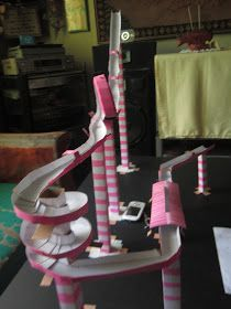 Im a proud crafter: DIY Science Project: Marble Roller Coaster
