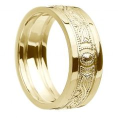 Celtic Warrior ® Shield Wedding Ring – Narrow with Trims – Celtic Jewelry by Boru ® Irish Wedding Rings, Celtic Warriors, Ring Shapes, Engagement Rings, Jewelry, Enagement Rings, Wedding Rings, Jewlery, Jewerly