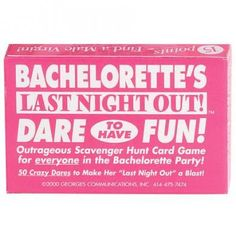 Bachelorette Party Favors Decor Bride Last Night Out Game Truth or Dare Gag Gift Bachelorette Dares, Bachelorette Party Supplies, Shopping Games, Dare Games, Fun Party Games, Google Plus, Adult Fun, Best Part Of Me, Wedding Bride