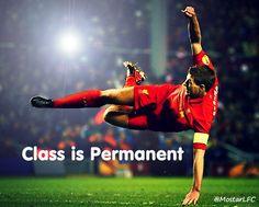 Steven Gerrard - Class is Permanent Steven Gerrard Liverpool, Ynwa Liverpool, Liverpool Football Club, Stevie G, Uefa Super Cup, Captain Fantastic, You'll Never Walk Alone, Best Football Team, Second Best