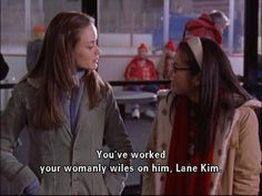 You've worked your womanly wiles on him, Lane Kim.