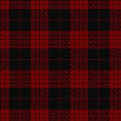 """CAMERON Black and Red.    Lt. Col. I B Cameron Taylor writes, """"It is possible that this sett was designed as a mourning tartan, as these were at one time popular, though usually in black and white."""""""