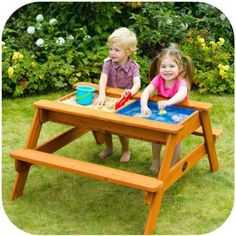 Plum Kids Wooden Picnic Table with Sand and Water | Buy Sand Pits
