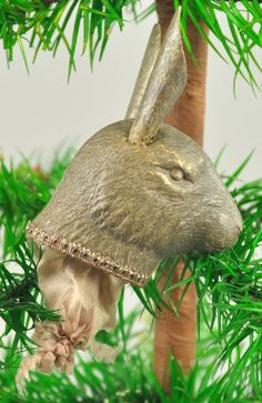 LOT #1951 - SILVER RABBIT CANDY CONTAINER DRESDEN
