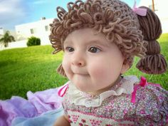 Cabbage Patch Kid Hat - Cabbage Patch Hat - Cabbage Patch Wig for Kids - Cabbage Patch Crochet Wig - Cabbage Patch Costume - Child Size Hats Cabbage Patch Costume, Cabbage Patch Hat, Cabbage Patch Kids Dolls, Crochet Kids Hats, Knitting For Kids, Knitted Hats, Hat Crochet, Knitting Projects, Baby Halloween Costumes