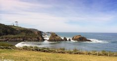 "The ""As Pontes"" islets at the beach of Porcía in Asturias, Spain. A wonderful place to visit in the spring when birds are building nests on these rocks!"