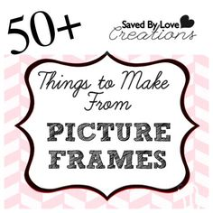Did you know that there are loads of ways to use picture frames other to displaying pictures? If you love to think outside of the box like I do, you are going to want to check out these projects. Diy Projects To Try, Crafts To Make, Fun Crafts, Craft Projects, Craft Ideas, Fun Ideas, Decorating Ideas, Adult Crafts, Picture Frame Crafts