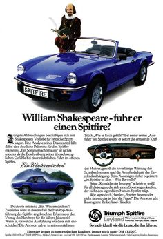 Triumph Spitfire 1500 - Mit William Shakespeare By.