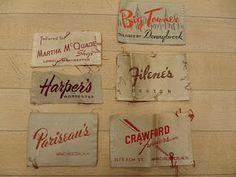 Vintage clothing labels...