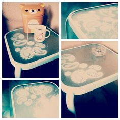 Add Design To Glass Table Top - Doodle Parade