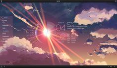 anime morning sunshine scenery backgrounds sky wallpapers deviantart cool scenic desktop