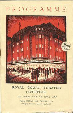 Royal court theatre programme 1950s