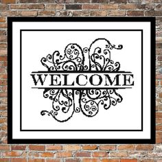 Welcome - a Counted Cross Stitch Pattern (7.00 USD) by WooHooCrossStitch