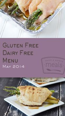 Gluten Free Dairy Free May 2014 Menu | OAMC from Once A Month Meals | Freezer Cooking | Freezer Meals | Allergy Friendly
