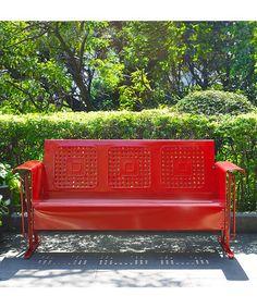 Look what I found on #zulily! Red Bates Sofa Glider #zulilyfinds