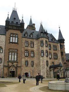 Wernigerode Castle, Saxony-Anhalt, Germany; on the location of a castle since the 13th century, the extensively rebuilt castle was finished in 1893