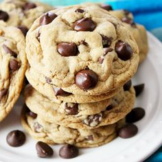 The Ultimate Chocolate Chip Cookies! Super soft, melt-in-your-mouth cookies with giant dark chocolate chips! Ps-they can be made GF too!