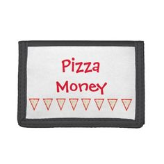 """Pizza"" Wallet - accessories accessory gift idea stylish unique custom"