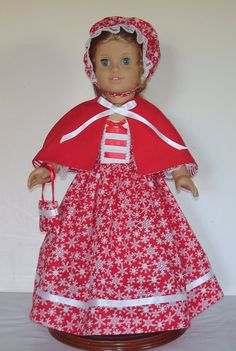 Christmas snow flake print dress with by MargaretteDesigns4AG, $18.00