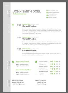 7 free resume template  Just used this one - my resume looks so clean cut and interesting now!