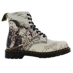 Dr Martens Mens 1460 Pascal Demented Are Go - Black White