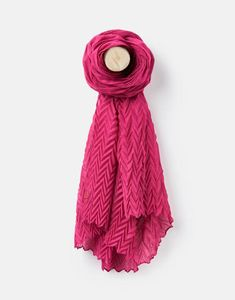 Joules Crinkle Womens Scarf- Deep Fuchsia Joules Uk, Large Scarf, Clothing Size Chart, Ladies Clothes, Clothes For Women, Crinkles, Womens Scarves, Lady, Fashion Tips