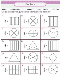Second grade math worksheets are a great help to second graders. Learn math skills with second grade math worksheets 3rd Grade Fractions, Fractions Worksheets, Third Grade Math, Math Fractions, Equivalent Fractions, Math For Kids, Fun Math, Math Games, Math Activities