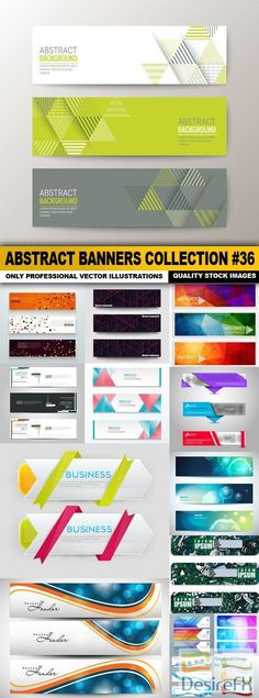 Abstract Banners Collection #36 - 15 Vectors