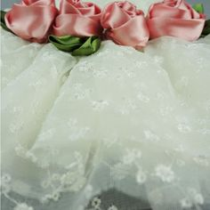 Fitwarm High Quality Luxury Rose Lace Pet Dog Wedding Dress Formal Bride Clothes - White