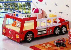 Kinderzimmer gestalten – 20 Kinderbetten für coole Jungs wie Autos geformt - kinderzimmer gestalten junge bett auto feuerwehr wagen kidsroom car bed
