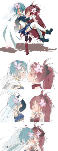 結婚しよう!Trying to get married ~ Sayaka and Kyouko (Puella Magi Madoka Magica):