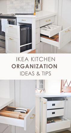 Ikea Kitchen Drawer Organization, Ikea Kitchen Drawers, Ikea Small Kitchen, Ikea Kitchen Remodel, Kitchen Cabinet Layout, Outdoor Kitchen Cabinets, Ikea Kitchen Design, Kitchen Cabinet Organization, Modern Kitchen Design