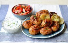 Cartofi copți în folie - la cuptor sau la grătar (în jar). Rețeta de cartofi copți în coajă. Cum se fac cartofii copți înveliți în folie de Veggies, Potatoes, Ethnic Recipes, Madness, Vegetable Recipes, Vegetables, Potato