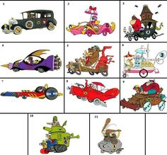 Your favourite Wacky Races vehicles/drivers Funny Pictures For Facebook, Funny Pictures Tumblr, Best Funny Pictures, Cartoon Crazy, Cartoon Tv, Classic Cartoon Characters, Classic Cartoons, Hanna Barbera, Retro