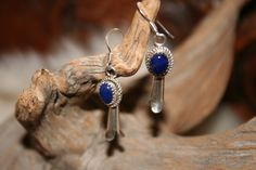 Lapis and silver earrings by WenJammerCreations on Etsy, $18.00