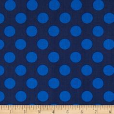 Singin' the Blues Jumbo Dots Navy/Royal from @fabricdotcom  Designed by Jackie Studios for Camelot Fabrics, this cotton print is perfect for quilting, apparel and home decor accents. Colors include blue on a navy background.