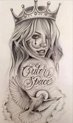 Easily Done Guides Chola Tattoo Designs Chicano Art Chola Gangster Cartoon Drawings Catrina Tattoo, Clown Tattoo, Skull Tattoos, Body Art Tattoos, Girl Tattoos, Sleeve Tattoos, Gangsta Tattoos, Girl Face Tattoo, Dove Tattoos