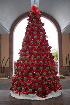 Meer dan 250 levende Golden Barrel cactussen zijn gebruikt om deze boom in het Westin La Paloma Resort & Spa in Tucson, Arizona, op te bouwen. Aan het einde van de kerstvakantie worden de cactussen op het terrein van het resort gepland.