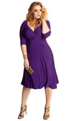 Fashion Bug Plus Size Curvy Dress in Amethyst www.fashionbug.us