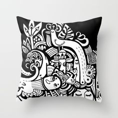 Puisto Throw Pillow by Hanna Ruusulampi | Society6